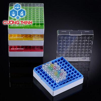 Hộp trữ lạnh 25/ 81/ 100 vị trí, chất liệu nhựa PC (Biologix - Mỹ)